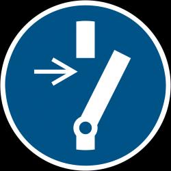 M021 : Débrancher avant d'effectuer une activité de maintenance ou de réparation