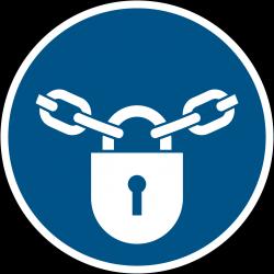 M028 : Verrouillage obligatoire par un cadenas