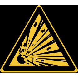 W002 : Danger, matières explosives
