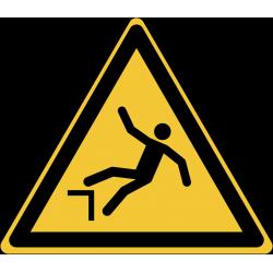W008 : Danger chute avec dénivellation