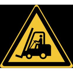 W014 : Danger, chariots élévateurs et autres véhicules industrielsds