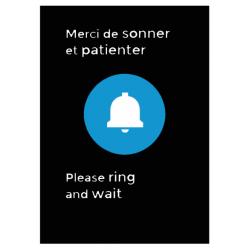 """Panneau """" sonnette"""""""