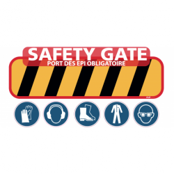 Safety gate autocollante exterieur