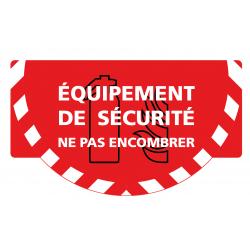 """Signalétique sol """"Equipement de sécurité"""" Rouge"""