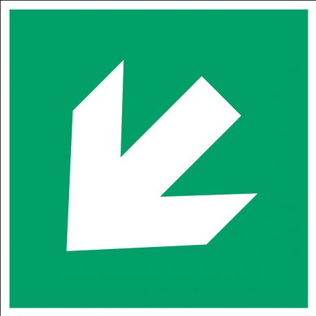 Flèche directionnelle 45°