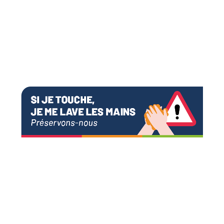 Si je touche, je me laves les mains