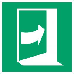 E023 : Porte qui s'ouvre en poussant sur son côté droit