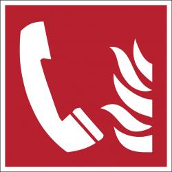 F006 : Téléphone à utiliser en cas d'incendie