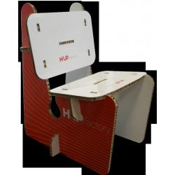 Chaise en carton renforcé