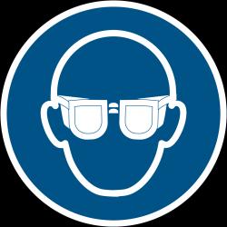 M004 : Lunettes de protection obligatoires