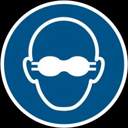 M007 : Lunettes de protection opaques obligatoire