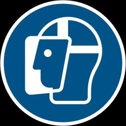 M013 : Visière de protection obligatoire